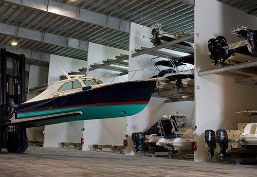 GCM marina dry stack storage bay