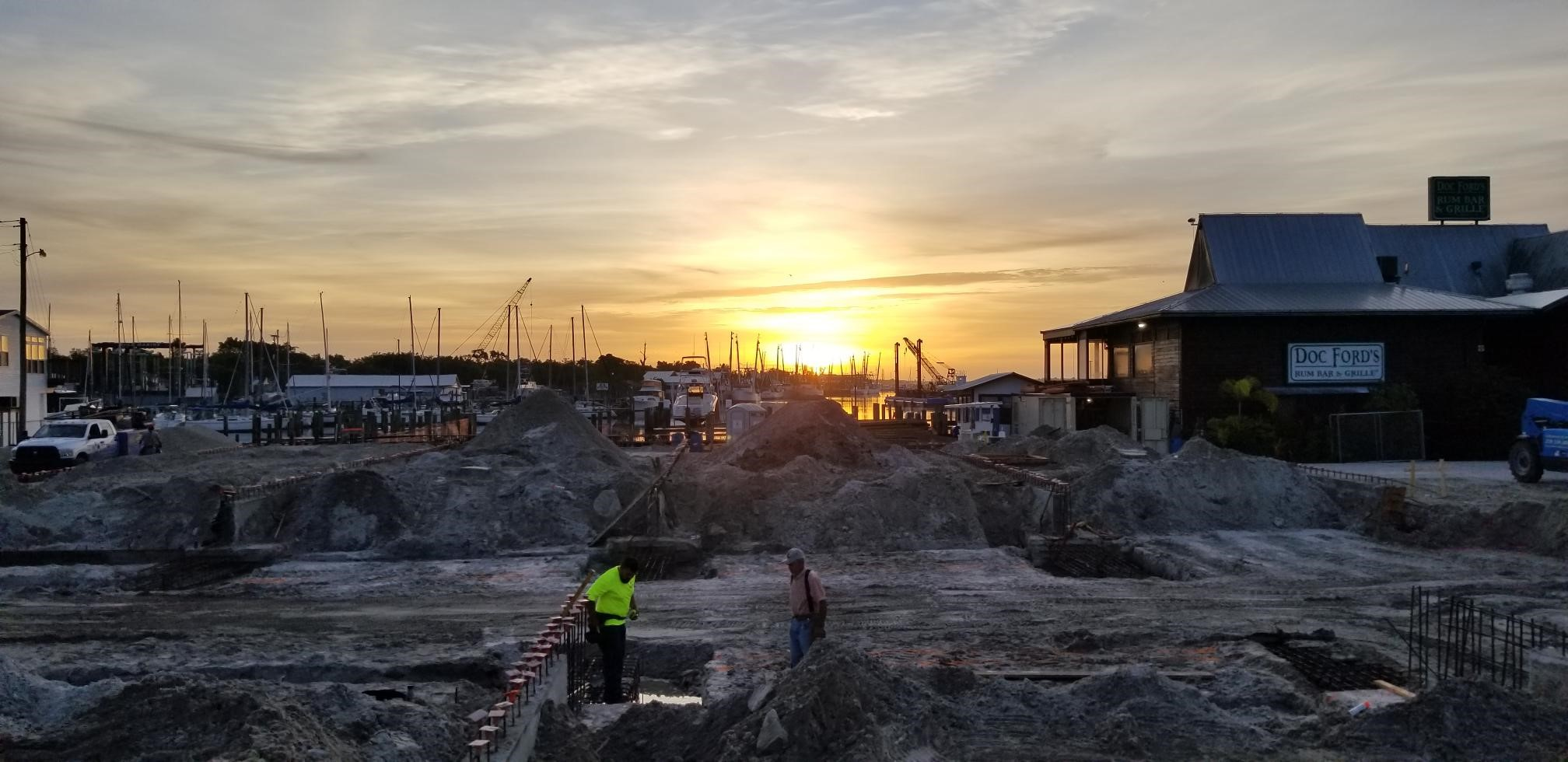 View of Gulf Star Marina under construction.