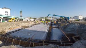 View of Gulf Star Marina under construction.