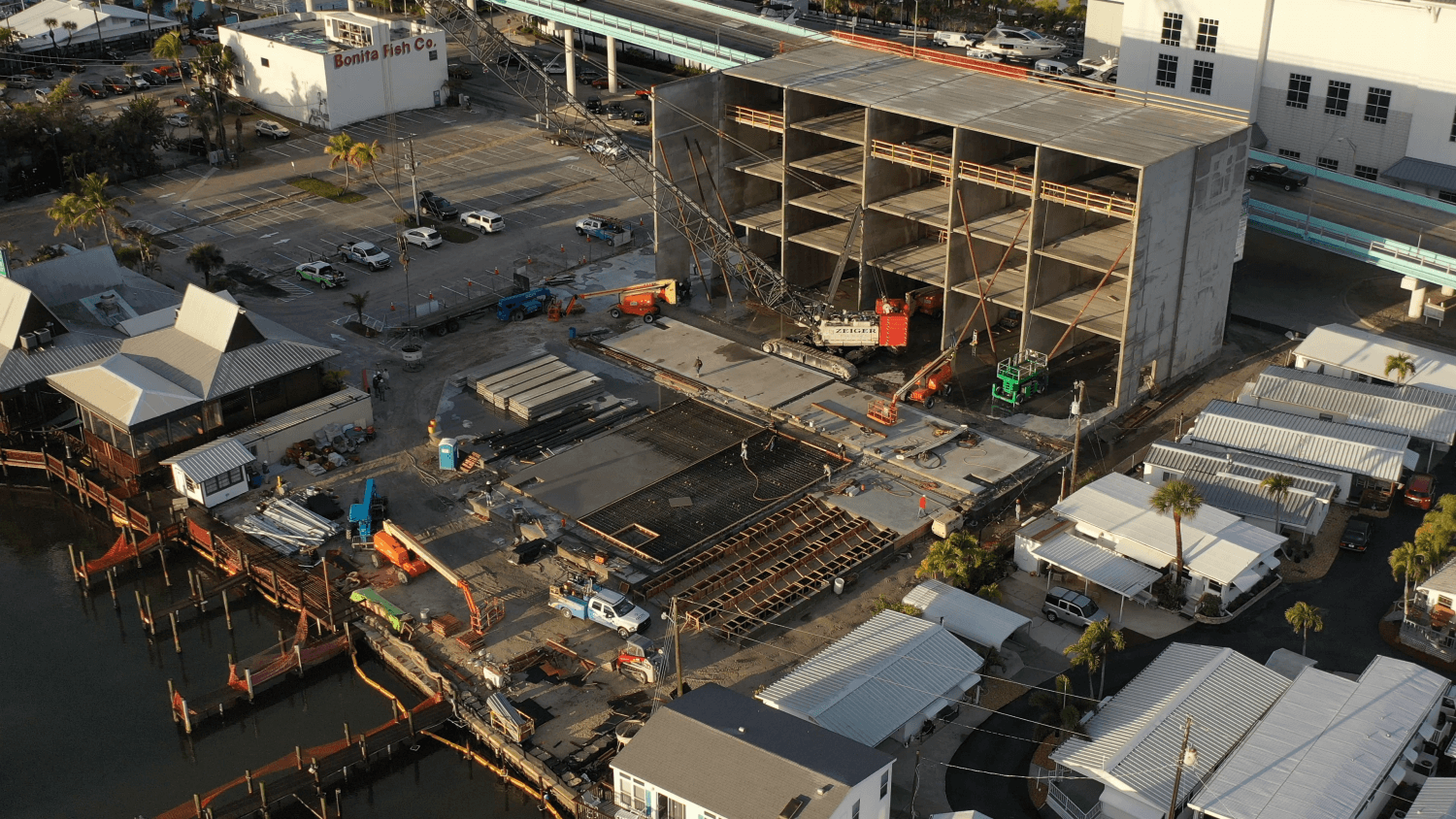 Aerial view of Gulf Star Marina under construction.