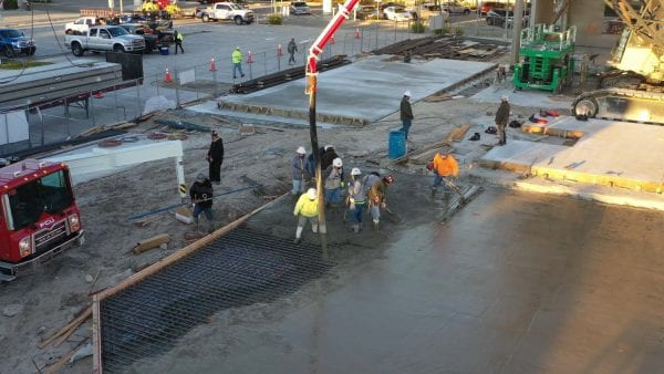 Slab pour at GSM.