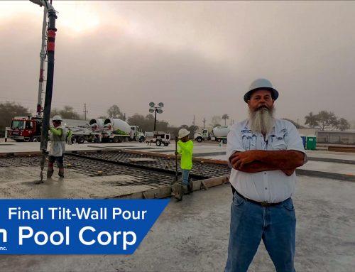 Final Tilt Wall Panel Pour – Pool Corp