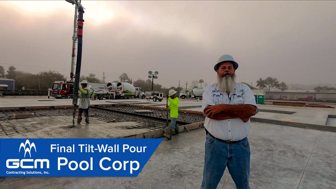 pool corp walkthrough final tilt wall