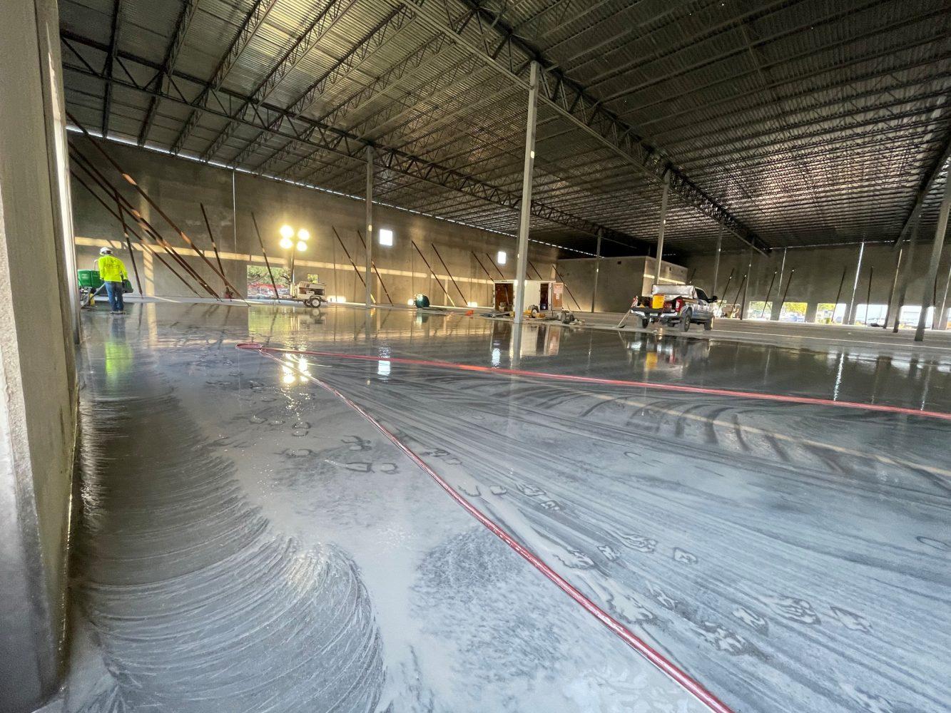 concrete slab finishing