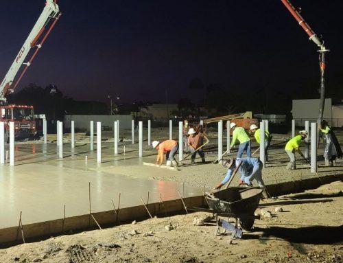 Chlorine Disposal Slab Poured at Pool Corp