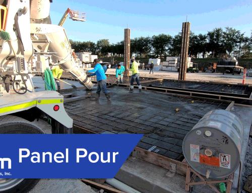 Panels Poured at Job in Fort Myers